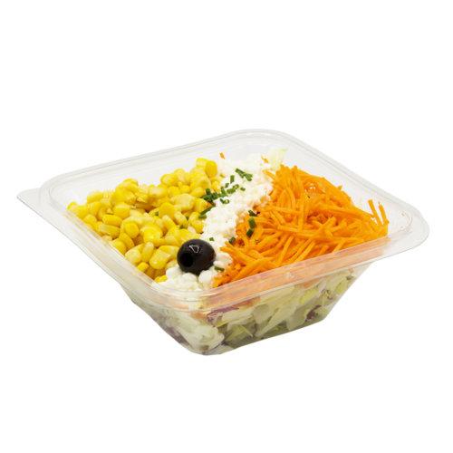 81 Grüner Salat mit Hüttenkäse