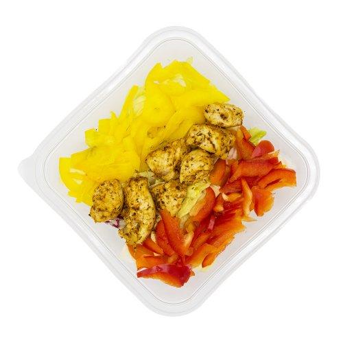 84 Grüner Salat mit Poulet & Peperoni