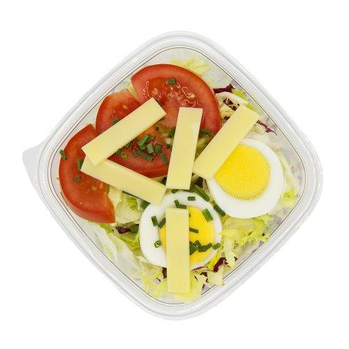 92 Grüner Salat mit Tomaten, Ei, Käse
