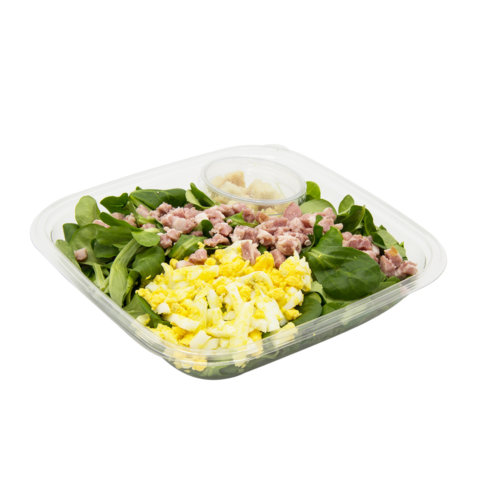 35 Nüssli-Salat mit Speck & Ei