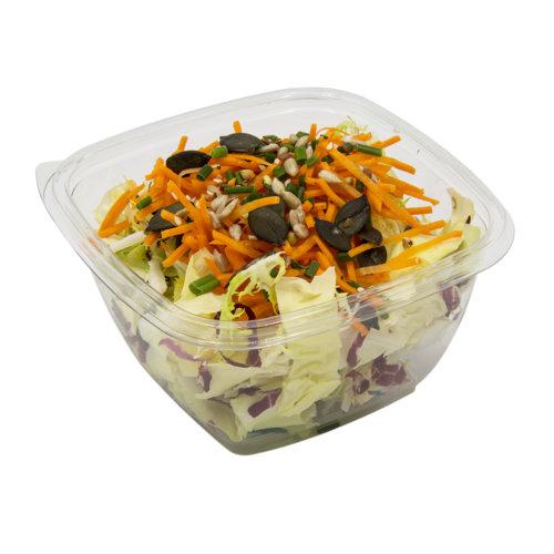 90 Grüner Salat mit Rüebli & Kernen